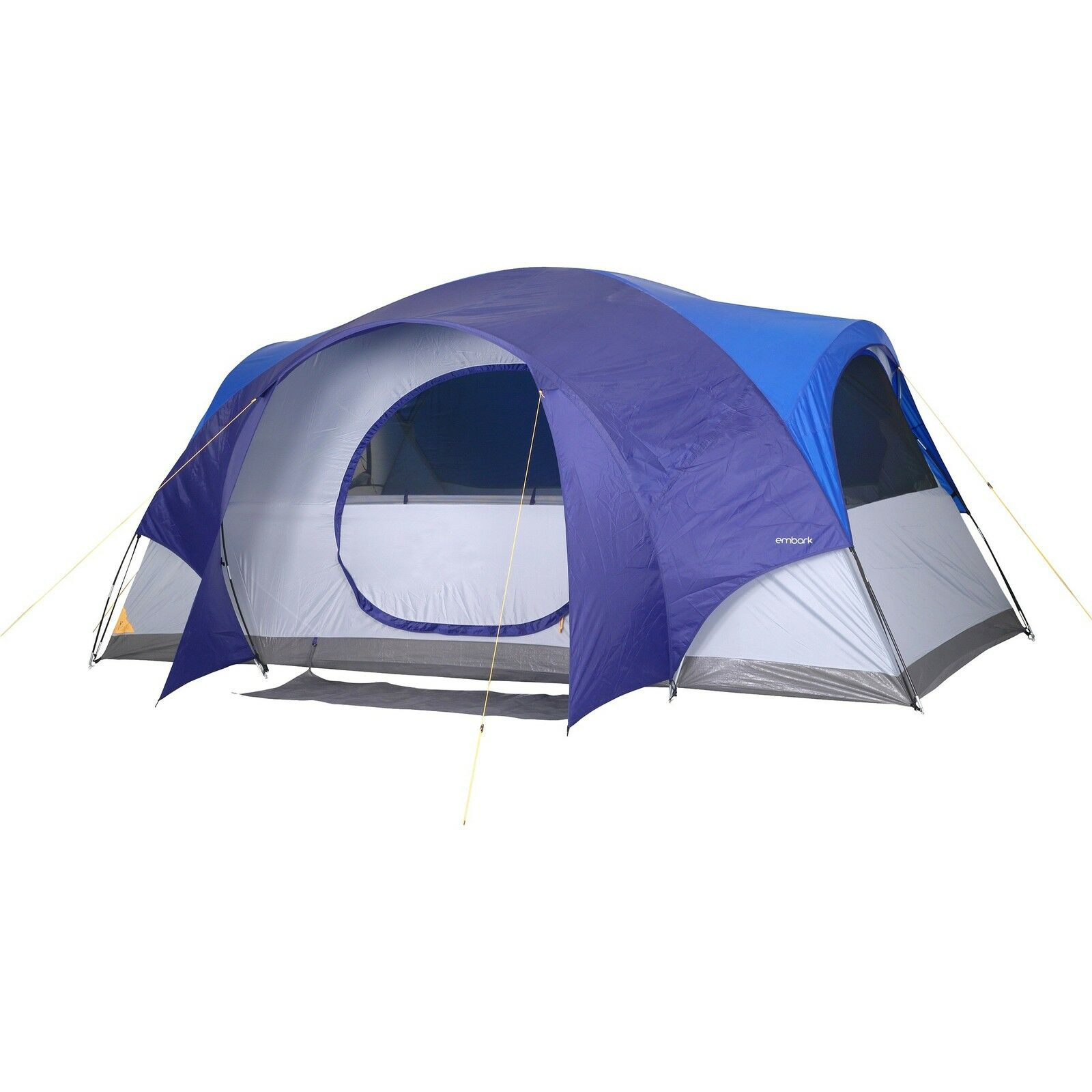 New EMBARK bluee 8 person Dome Tent - 14x8x78