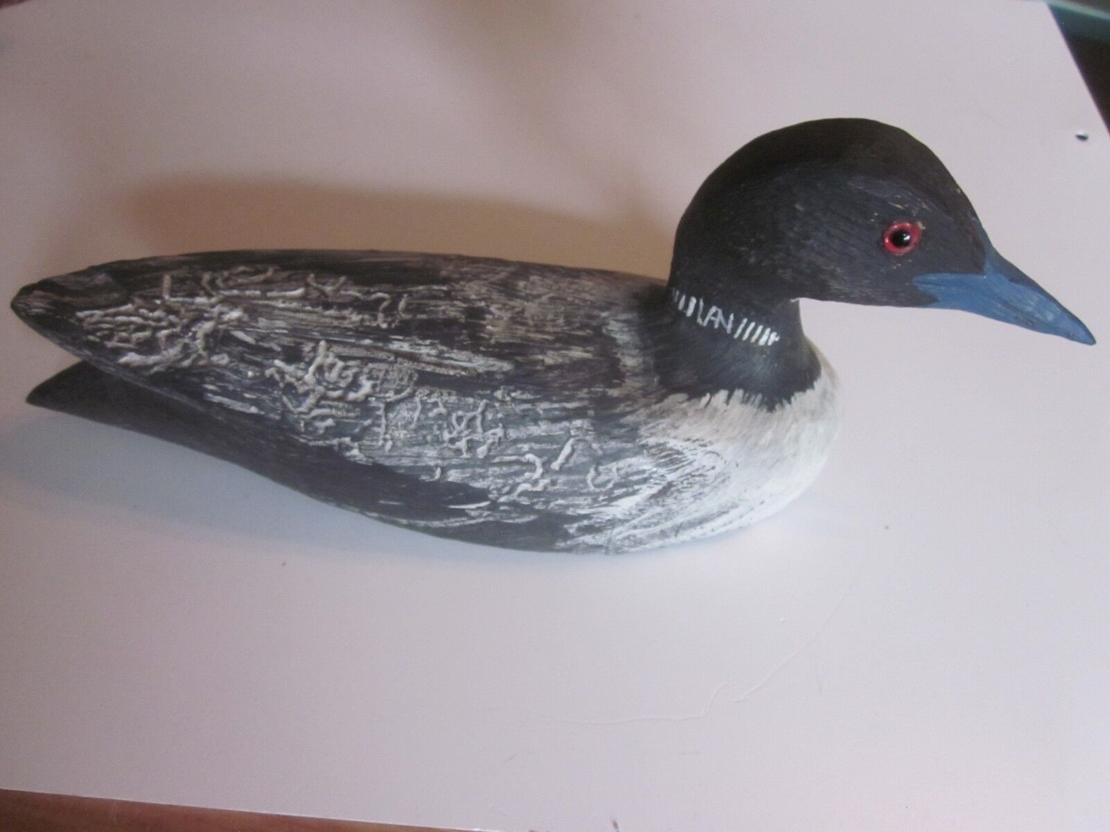 Great Grant  Van Loan handcarved wood decoy Loon signed 11   online cheap