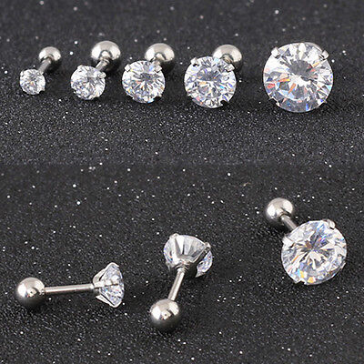 Four claws Zircon Stud Earrings Titanium steel Ear studs /Allergy free ED301