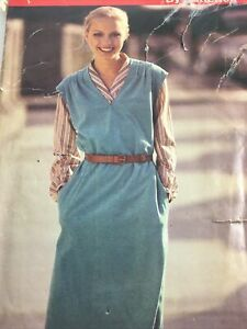 1980s Butterick 6635 Vintage Sewing Pattern Womens Jumper Size 18