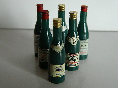 (f1-4) Dolls House Six Bottles Of Assorted Wine Tekorten