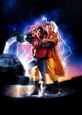 Back to the Future Classic Movie Poster Art Fabric HD Printed Wall Decor 1985