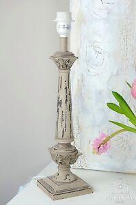 Tischlampe Vintage Shabby : lampenfu lampe tischlampe holz shabby landhaus vintage ~ Watch28wear.com Haus und Dekorationen
