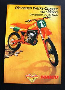 MAICO mc250 490 di fabbrica i CROSSER professionisti Maisch vendita prospetto 1983 Dina 4