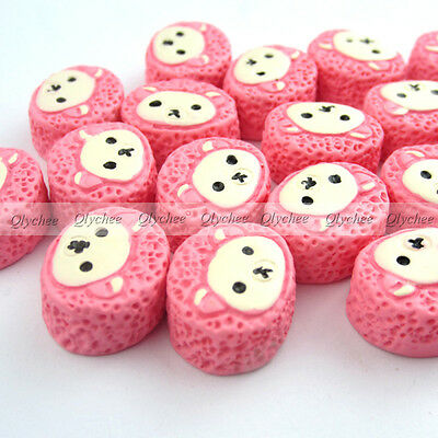 DIY New  Cabochons Crafts Flower Bear Face Cake Resin Flatback Scrapbooking Cute