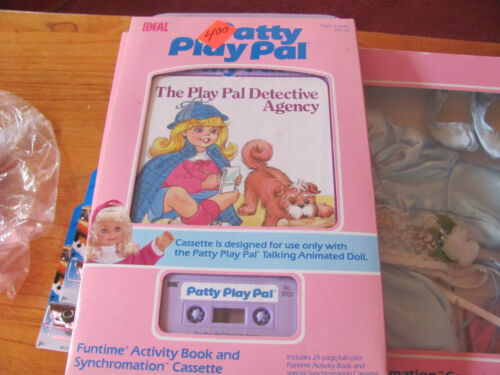 Ideal Patty Play Pal Detective Agency Activity book /& Synchromation cassette NEW