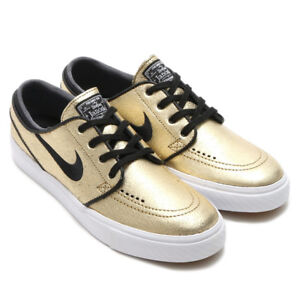 1bf855192241 NIKE SB Zoom Stefan Janoski L Leather Gold 616490-702 US 11.5