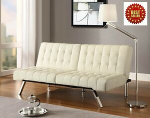 Futon Sofa Couch Sleeper Mattress Bed Chaise Lounge Living