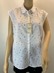 The Savile Row Company Button Up Fitted Casual Boho Work Chic Shirt Size 12