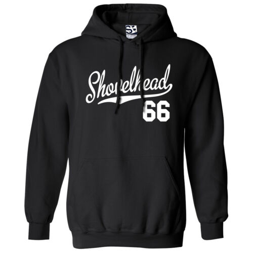 Shovelhead 66 Script Tail HOODIE 1966 Hooded Bobber Chopper Sweatshirt All Color