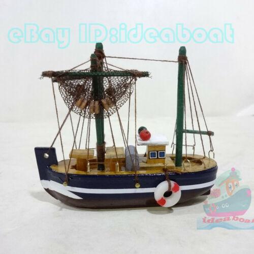 WOOD MODEL 10cm length Tall Ship Yacht Sailing Boat Fishing Boat Nautical decor