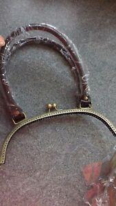 Metal Purse Frame Kiss Fermoir Sac à Main Poignée Brasssilver Vintage Sac Making Craft-afficher Le Titre D'origine