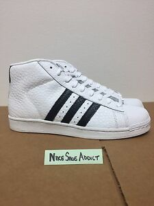 Image is loading Adidas-Pro-Model-Animal-White-Black-Gold-S75068-