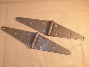 2-Steel-Hinges-Barn-Door-Shed-Gate-Rustic-Strap-Hinges