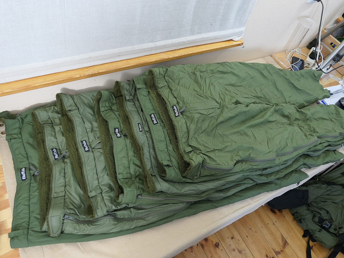 1x St. MB66 Buffalo Systems Outdoor Thermohose UK40i Fleece Funktions Shell Hose