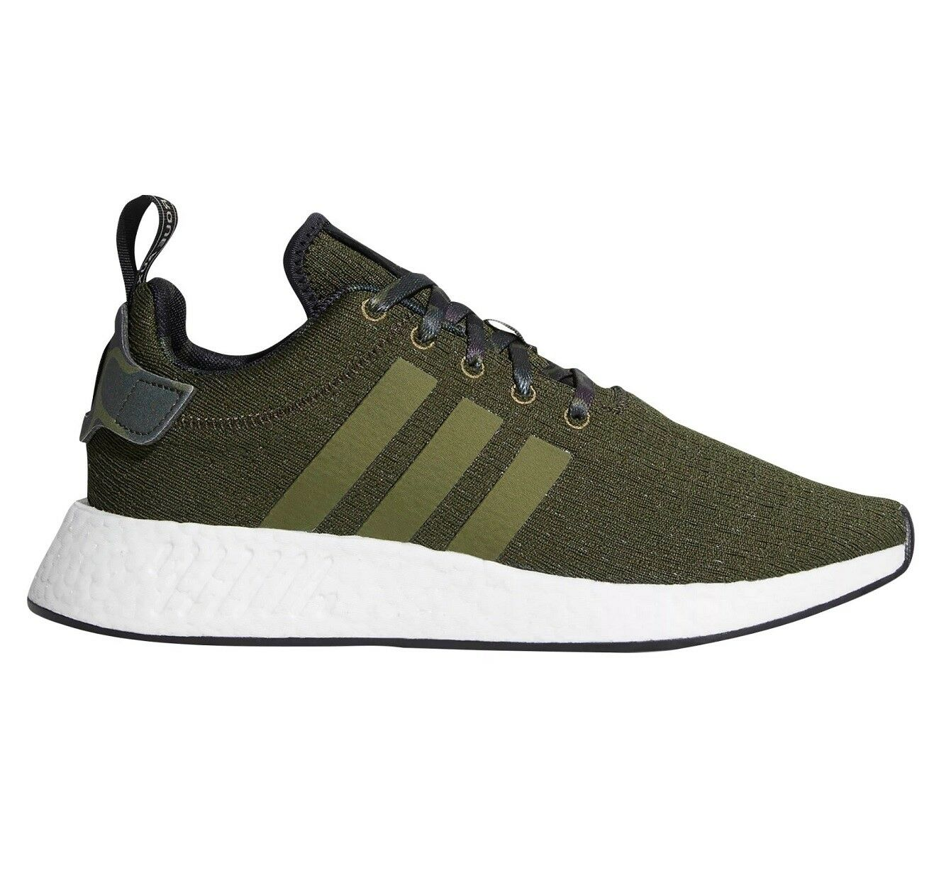 Adidas NMD R2 Mens B22630 Olive Cargo Green Boost Knit Athletic Shoes Comfortable