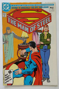 Superman-The-Man-of-Steel-6-in-VF-Cond-with-Mini-Wonder-Woman-Insert-1986-DC