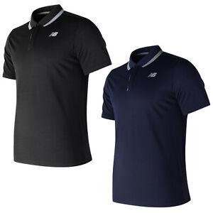 plus récent 699d3 9f3cb Details about New Balance Mens Rally Classic Polo Shirt Tennis NB Collar  Short Sleeve T-Shirt