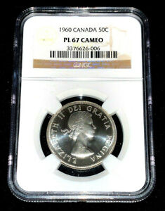 1960-Canada-Fifty-Cents-Silver-NGC-PL67-Cameo-Only-1-Graded-Higher