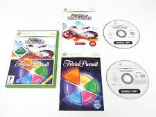 Xbox 360 Burnout Paradise lo último en caja y Trivial Pursuit Paquete de Juego de niños