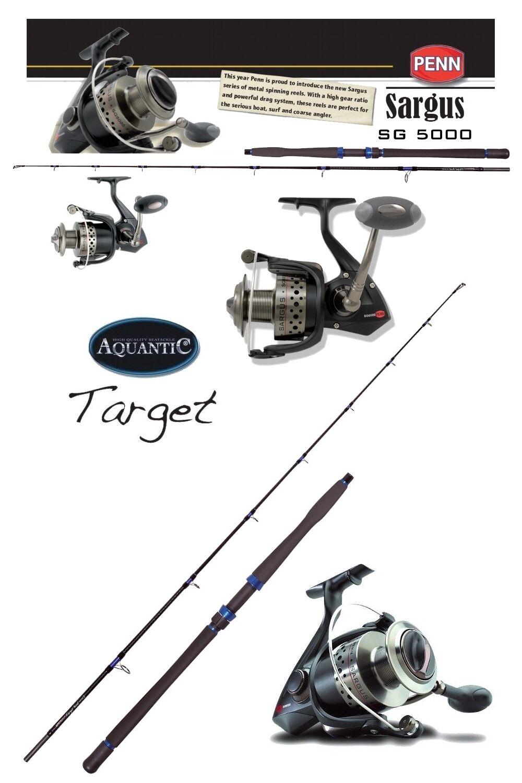 Aquantic targetBoat S Uptide 50lb 2,40 cm  Penn ® Sargus ® Saltwater SG 5000