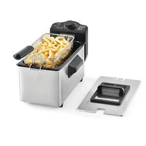 Fritteuse-Frittiertopf-Frittierkorb-Edelstahl-Friteuse-2000W-3-Liter
