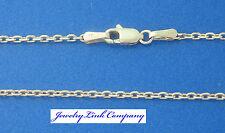 "14K Solid White Gold Diamond Cut Boston Link Chain 22"" 3.4grams 1.4mm (040)"