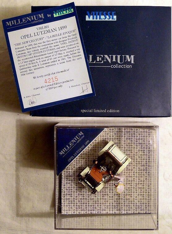 Vitesse vml001  OPEL LUTZMANN 1899 in box, 1 43, limitée, NOUVEAU & NEUF dans sa boîte-RARE