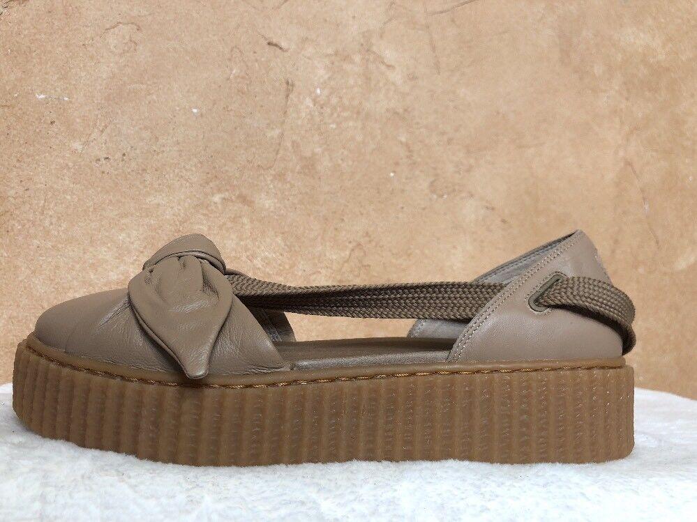 Fenty Puma By Rihanna Damenschuhe Bow Bow Damenschuhe Creeper Sandale Natural Oatmeal 365794-03 Größe 8 a70894