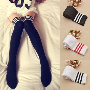 1-Pair-Students-Loaded-Above-Knee-Thigh-High-Stockings-Long-Socks-Elegant-Gift
