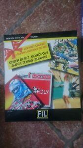 4 jeux thomson tennis green beret monopoly runway pour mo6mo5 to7 70 to9to9 ebay ebay