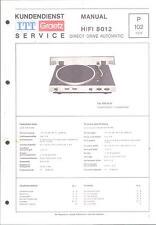 ITT/Graetz Service Manual für HiFi 8012