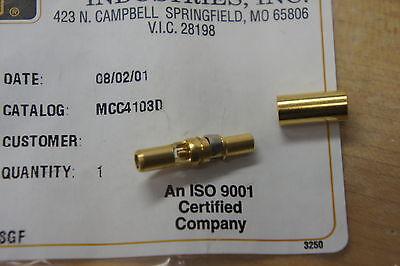 NIB Positronic MCC4103D  size 8  coax crimp MALE contact for plugs Qty 1