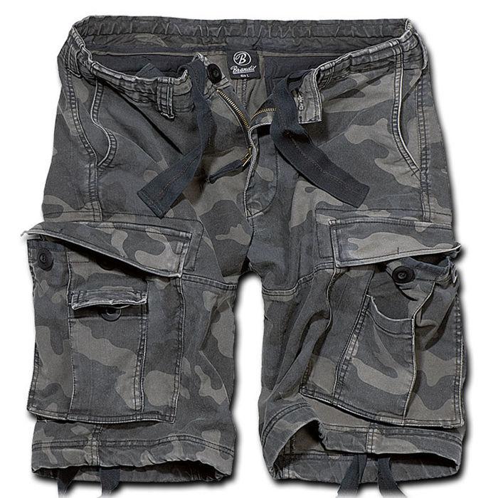 Brandit 2002.4 M65 Vintage Classic Cargo Shorts Combat Army Style Dark Camo