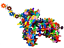 Interlocking Plastic Disc Set 500Pc Flakes Kids Brain Training Toys Building Set