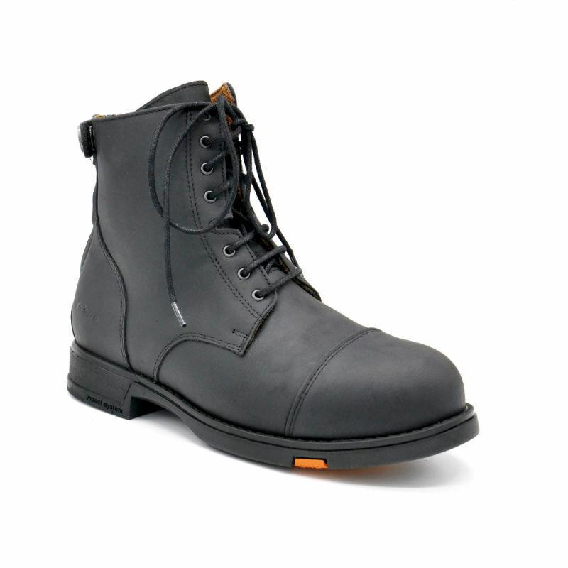 Hobo Shoes Reitstiefelette Safety Lacer Stahlkappe Reitschuh Stallschuh schwarz