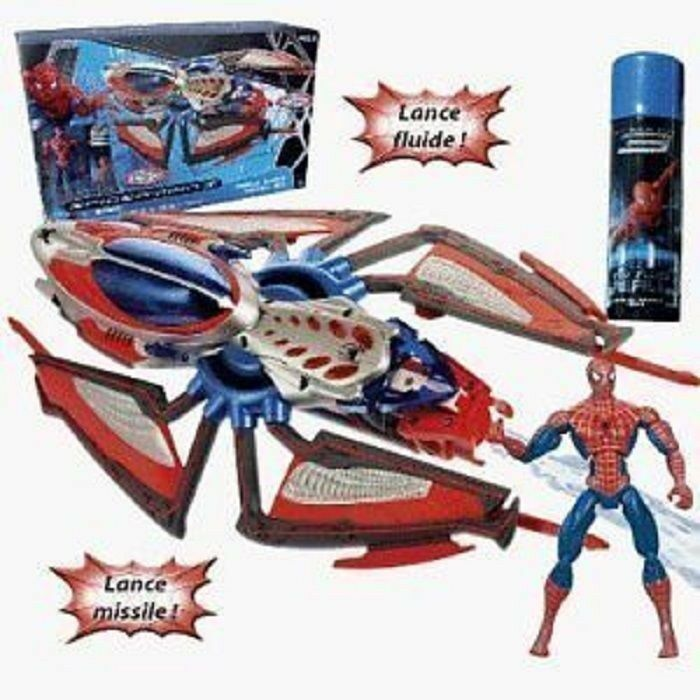 Spiderman Spider manTriple Blast Hover Jet Hasbro 2007 Collectable New & Sealed