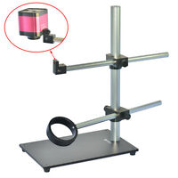 Universal Heavy Duty Dual-Arm Metal Boom Stereo Microscope Table Stand Holder
