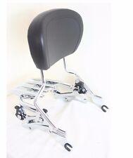 4 Point Docking Chrome Stealth Luggage Rack Sissy Bar Backrest Harley 2014-later