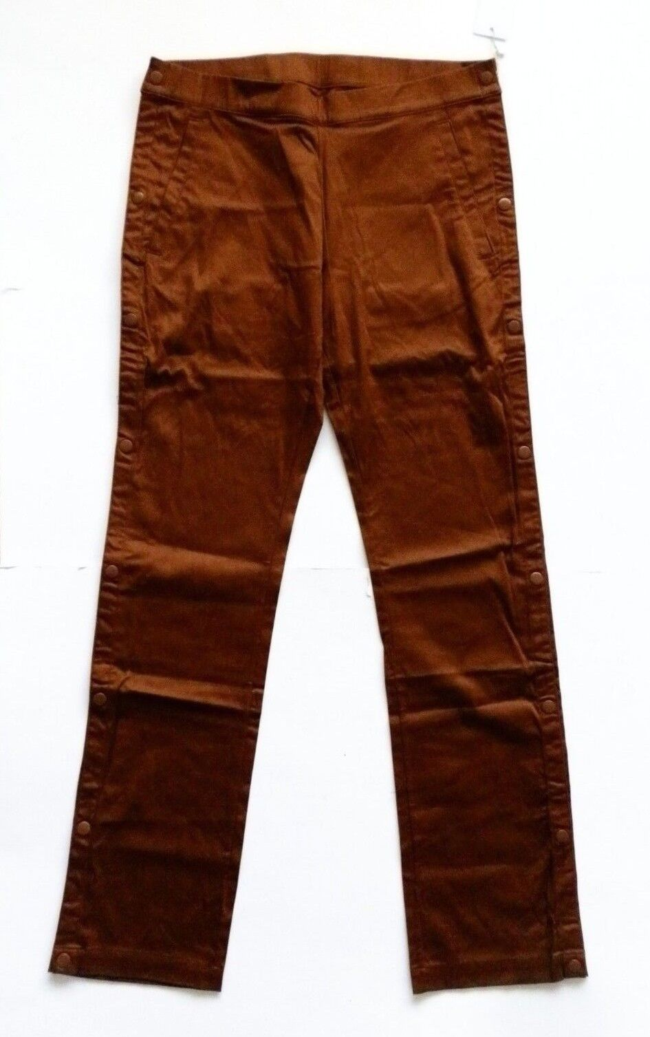 HAN KJOBENHAVN BROWN MALL PANTS TROUSERS WITH POPPER SIDES 32W 32L.