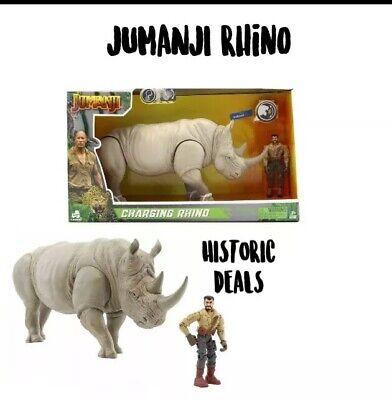 Jumanji Charging Rhino And Figure NEW