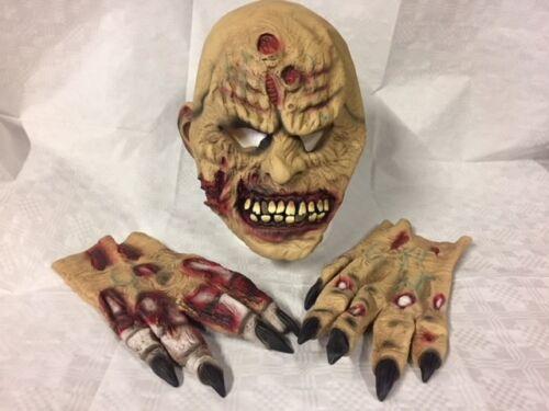Zombie Halloween maschera adulto con le mani in Lattice Costume
