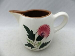 Stangl-Pottery-Thistle-Pattern-Pitcher-Creamer-2-3-4-034-tall-EUC