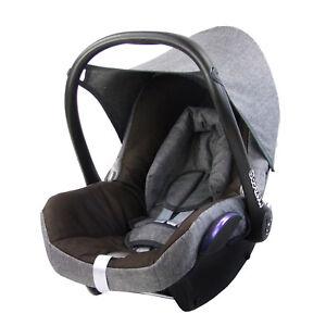 BAMBINIWELT Ersatzbezug 6tlg. Maxi-Cosi CABRIOFIX Baby MELIERT GRAU/DUNKELBRA<wbr/>UN