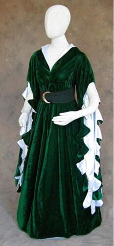 Scalloped Game of Thrones Renfaire Gown Costume Medieval Houppeland Noble Dress