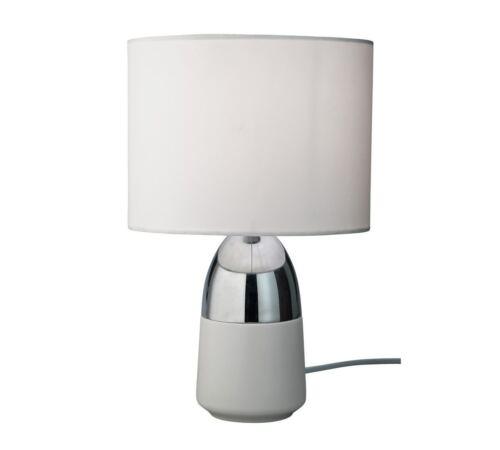 HOME Duno Touch Bedside Floor Table Lounge Desk Light Lamp White /& Chrome