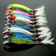 10pcs Fishing Lures Crankbaits Hook Minnow Baits Tackle Crank Fishing Tackle Kit