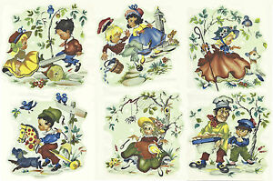 Image Is Loading Ceramic Decals Ilrated Nursery Rhymes Vintage Style Jack