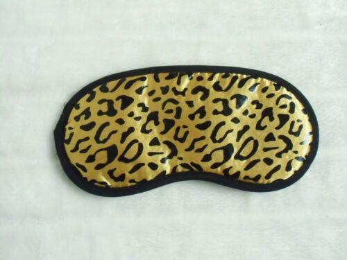 Masque de sommeil nuit repos voyage satiné léopard panthère plusieurs couleurs