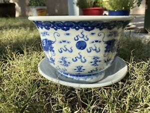 Superb Antique Chinese Blue and White Planter Daoguang Mark